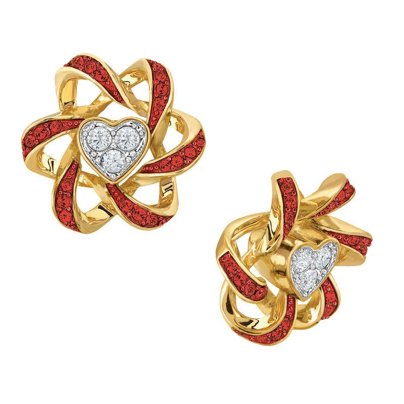 Birthstone Beauty Heart Earrings 2627 0066 g july
