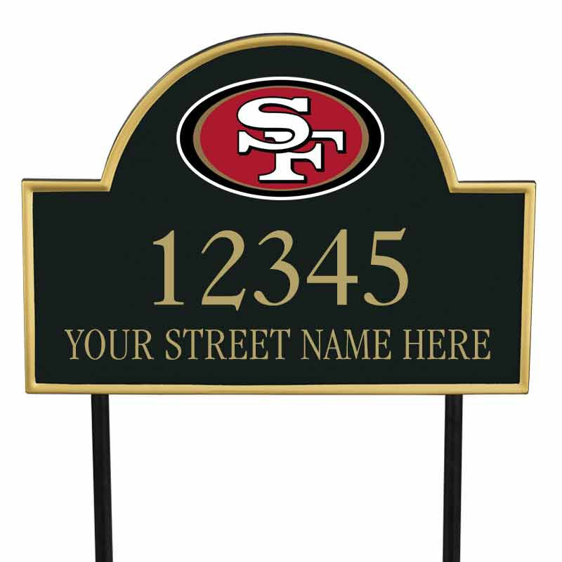 The NFL Personalized Address Plaque 5463 0355 a 49ers