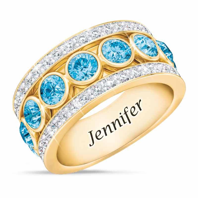 Birthstone Spinner Ring 1522 001 5 3