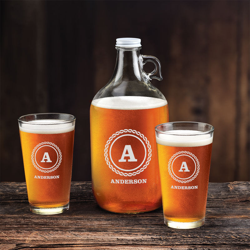 The Personalized Beer Growler Set 5652 001 8 2