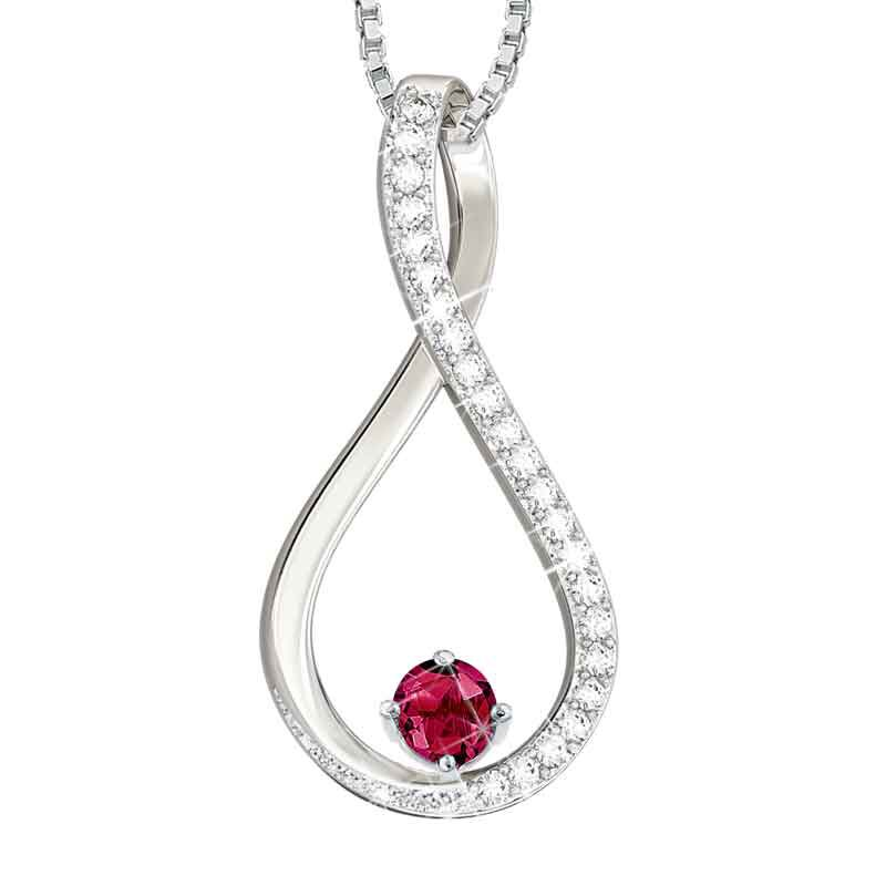 The Birthstone  Diamond Infinity Pendant 5200 001 5 7