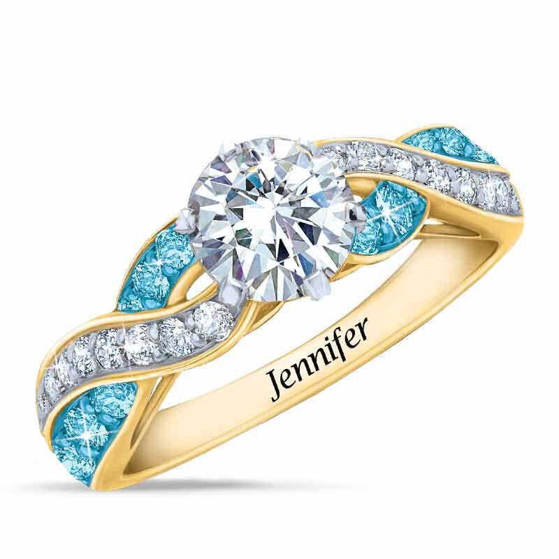 Birthstone Swirl Personalized Ring 5361 001 0 12