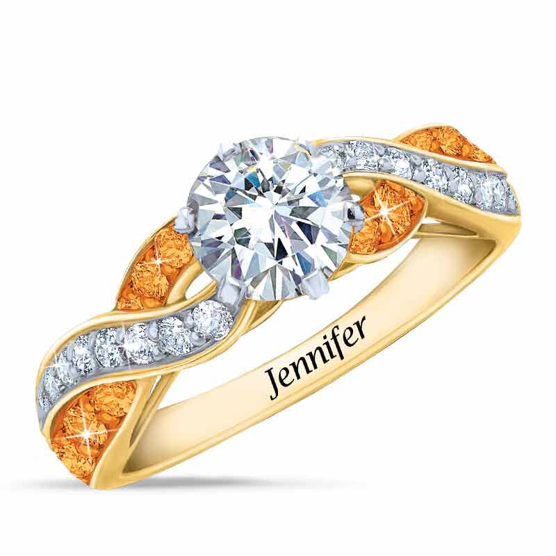 Birthstone Swirl Personalized Ring 5361 001 0 11