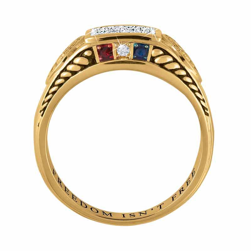FREEDOM ISNT FREE US Marine Corps Diamond Patriot Ring 5958 006 8 3
