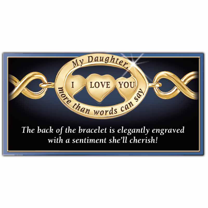 My Daughter I Love You Diamond Bracelet 5445 001 0 2