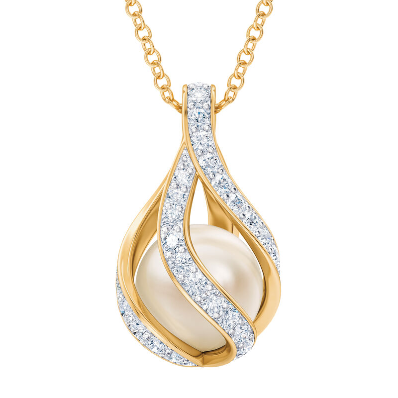 Loves Embrace Pearl Birthstone Necklace 10144 0014 d april
