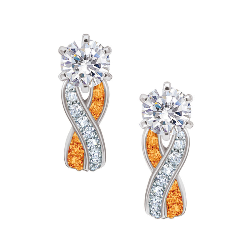 Birthstone Swirl Earrings 6366 0021 k november