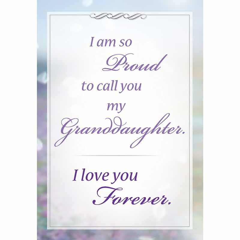 Forever Proud Granddaughter Journey Pendant with card 6840 001 9 4