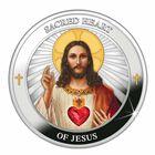 The Sacred Heart of Jesus Silver Medallion 2166 001 4 3
