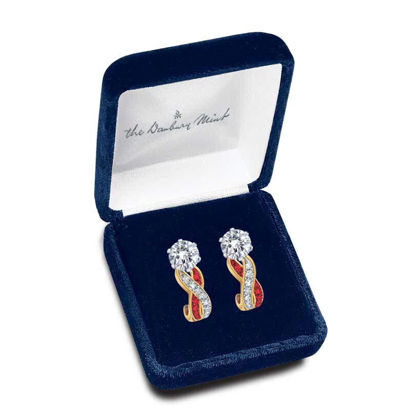 Birthstone Swirl Earrings 5361 014 3 13