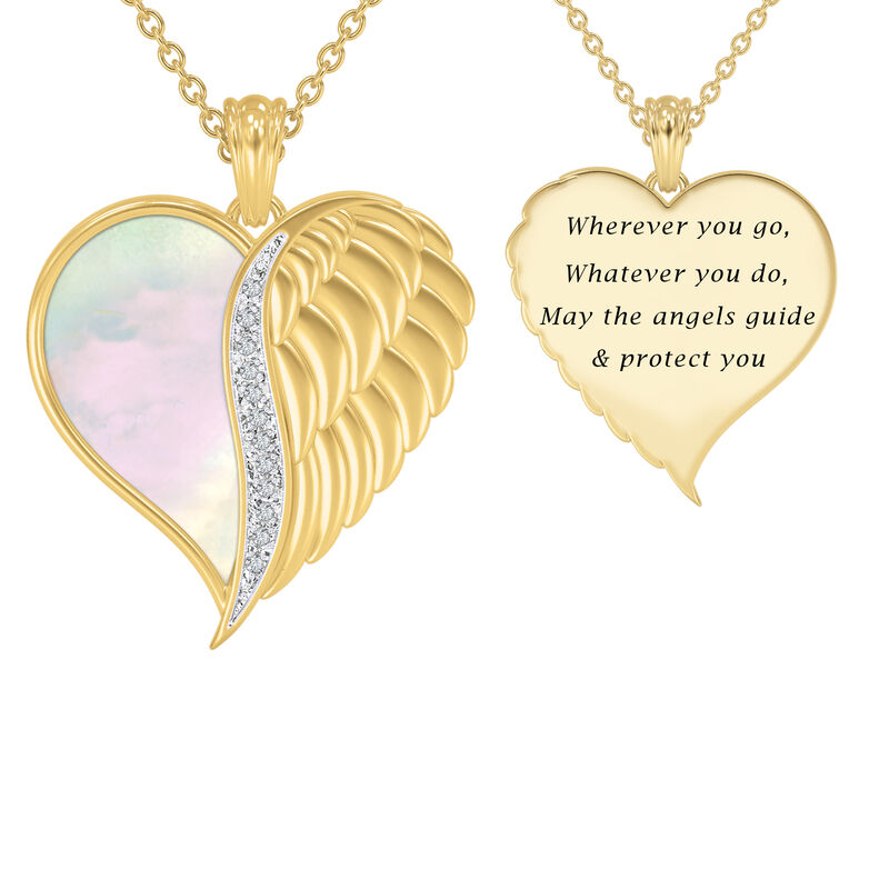 Angels are With You Diamond Heart Pendant 10424 0015 a main