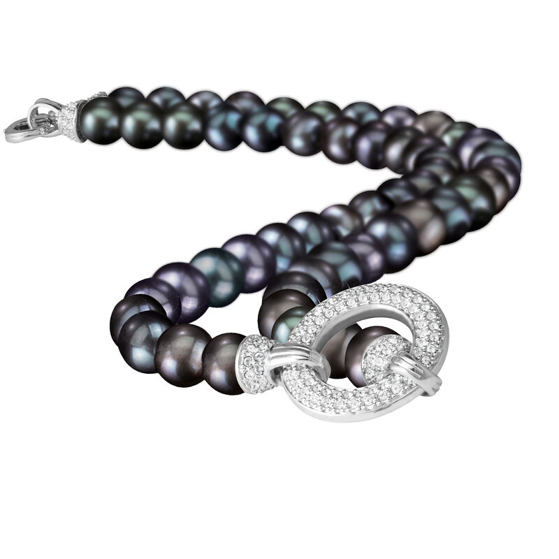 Magical=Moments Black Pearl Necklace 6922 0028 c close up