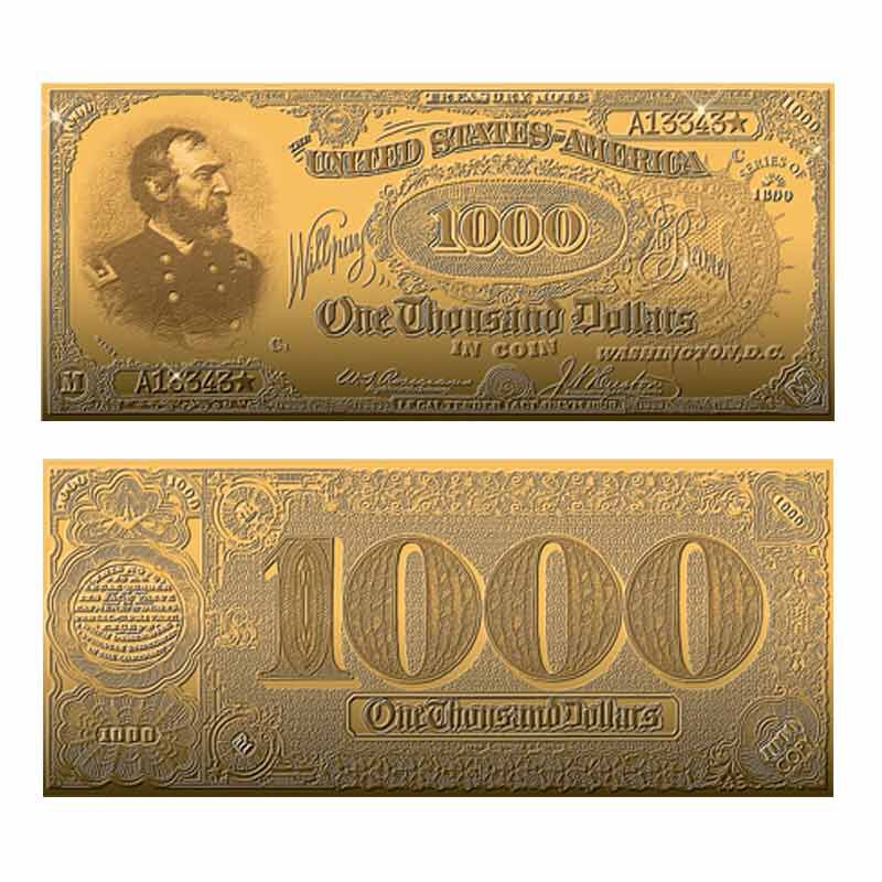 22kt Gold Replicas of Classic US Paper Currency Collection 9497 004 3 2