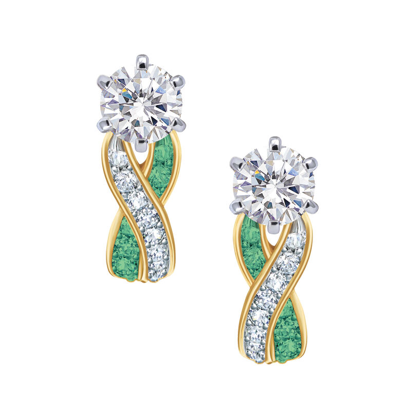 Birthstone Swirl Earrings 6503 0033 e may