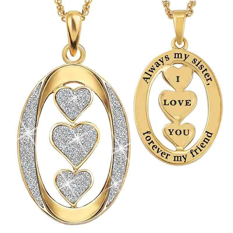 My Sister I Love You Diamond Pendant 1487 001 8 1