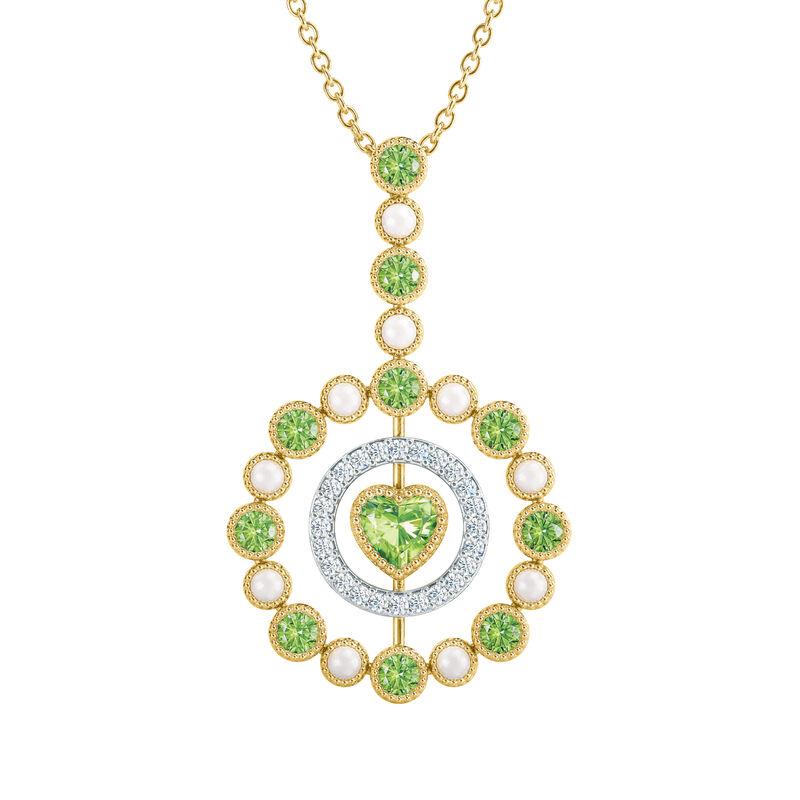 Love Embrace Birthstone Diamond Necklace 6928 0014 h august