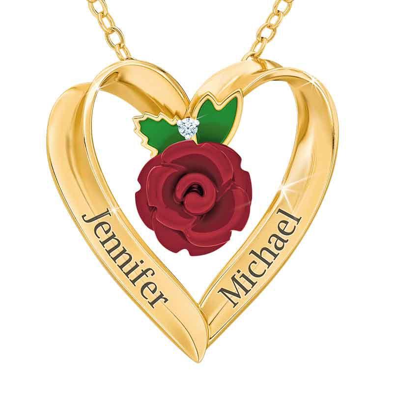 Everlasting Rose Heart Pendant 2189 001 7 1