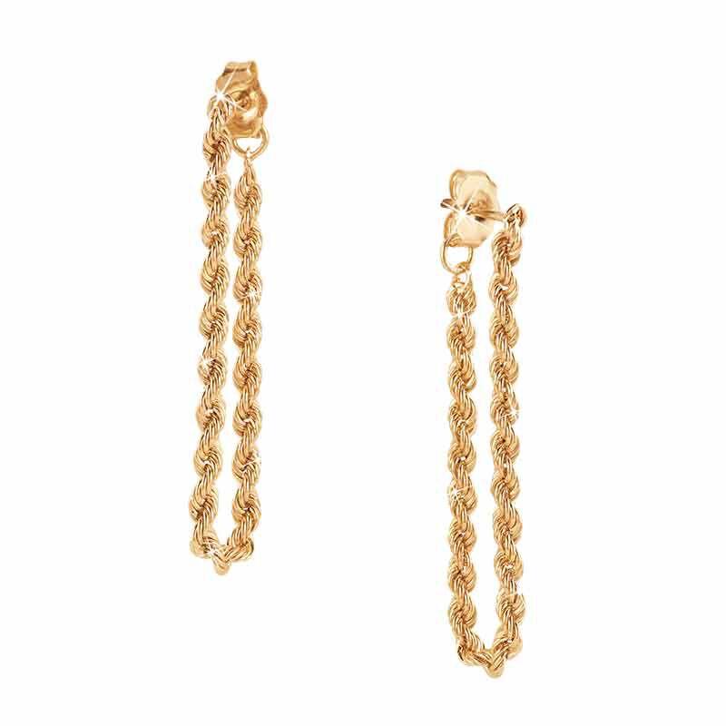 Glimmers of Gold 14kt Hoop Earrings 6206 001 7 1