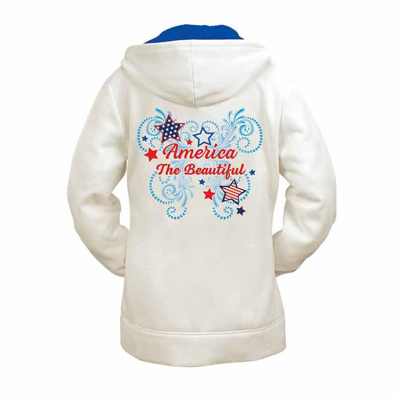 America the Beautiful Zip Up Hoodie 6200 001 3 2