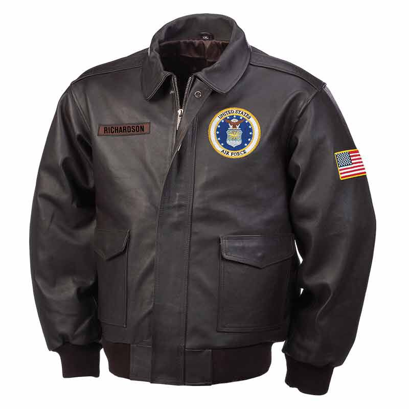 The Personalized USAir Force Leather Bomber Jacket 5905 003 9 1