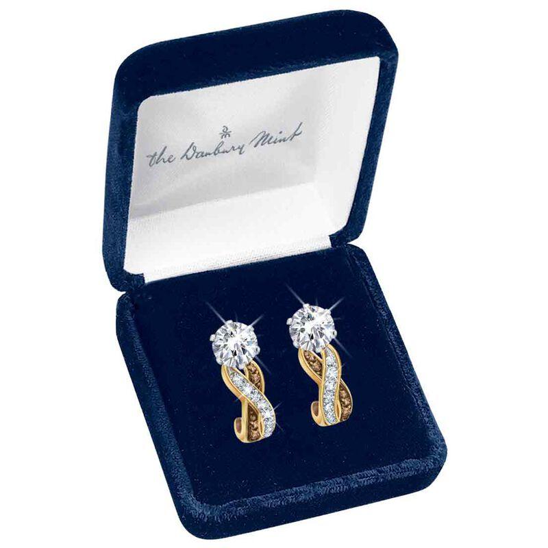 Mocha Swirl Diamonisse Earrings 1010 002 2 2