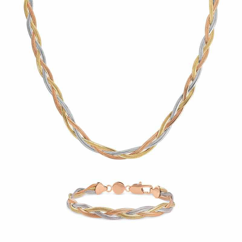 Healthy Wealthy  Wise Copper Necklace and Bracelet Set 6363 001 6 1