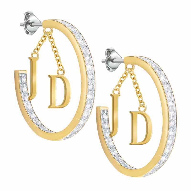 Initial Diamonisse Hoop Earrings 1207 005 8 2