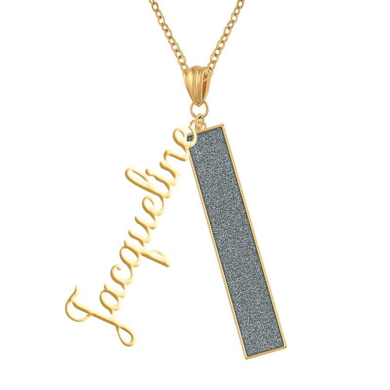 Personalized Birthstone Bar Necklace 6800 001 7 3