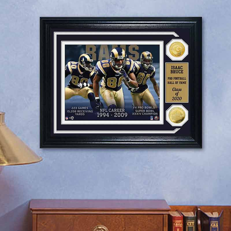 Isaac Bruce Hall of Fame Photo Collage 4391 160 1 3