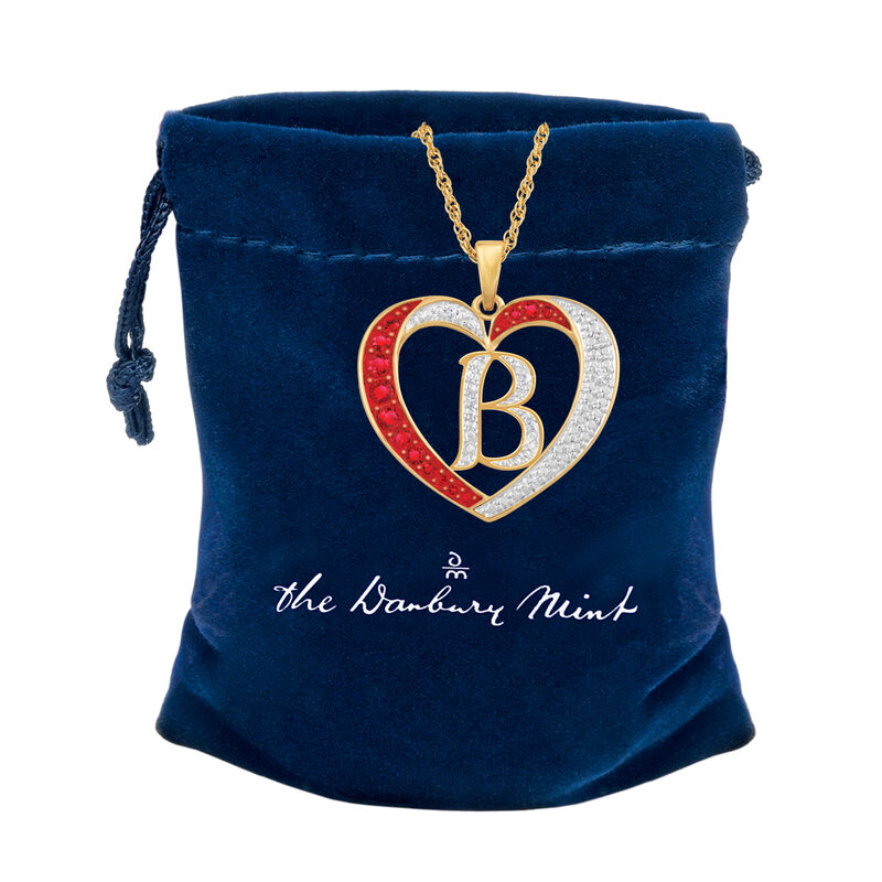Personalized Diamond Initial Heart Pendant with FREE Poem Card 2300 0060 z c gift pouch