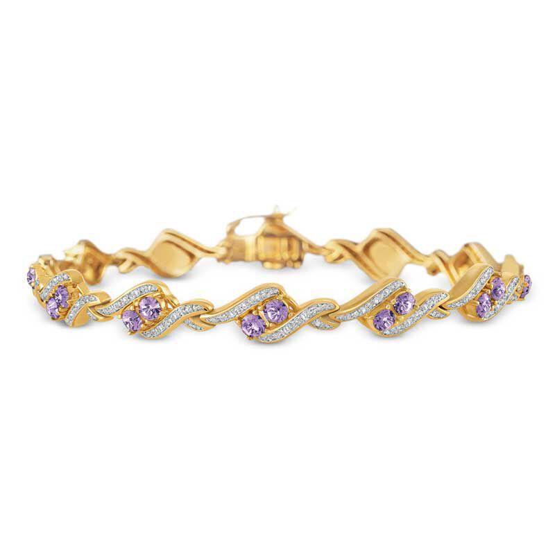 Birthstone  Diamond Bracelet 6321 001 7 6