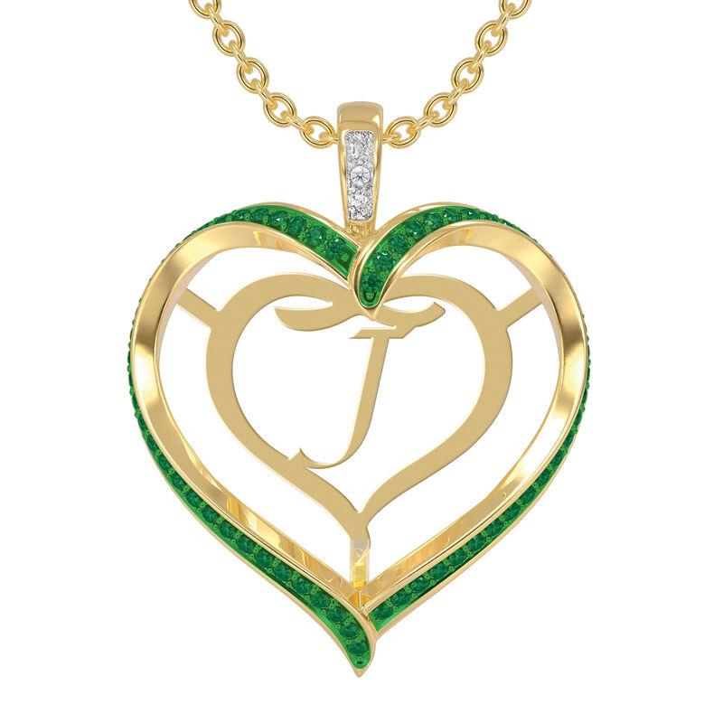 Personalized Birthstone Diamond Pendant 10138 0012 e may