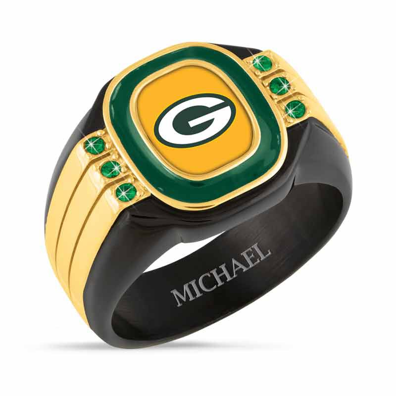 Green Bay Packers Personalized Mens Ring 1719 001 8 1