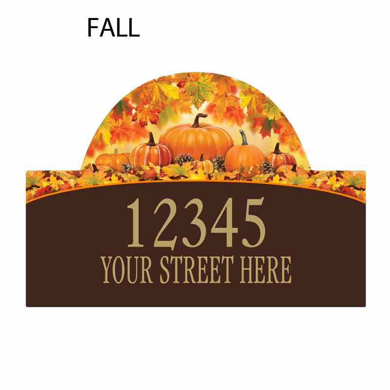 Seasonal Sensations Personalized Address Plaque 1919 002 4 3