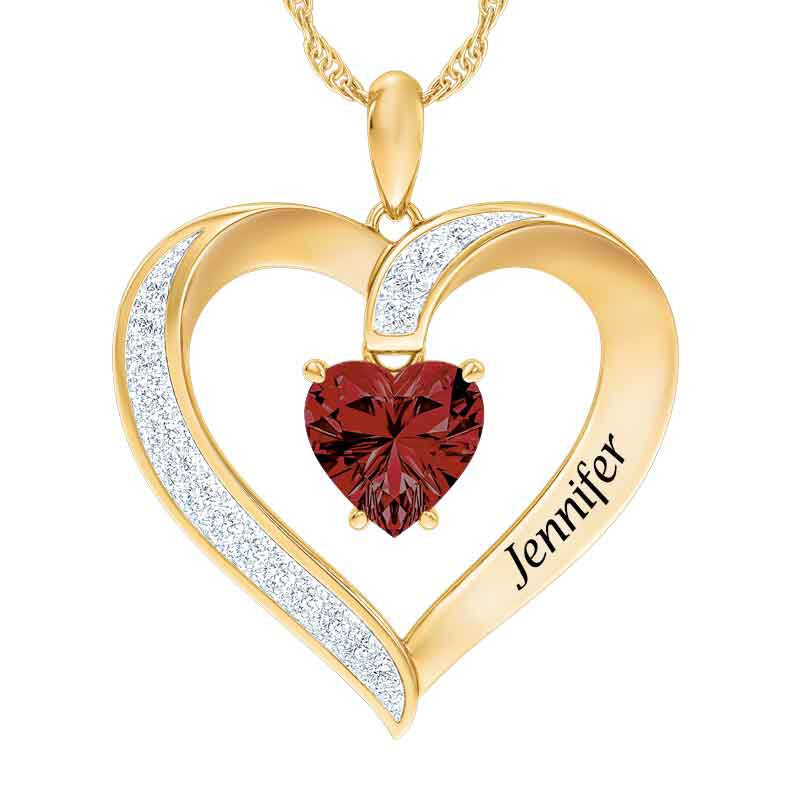 Personalized Birthstone Heart Pendant 5447 001 8 1