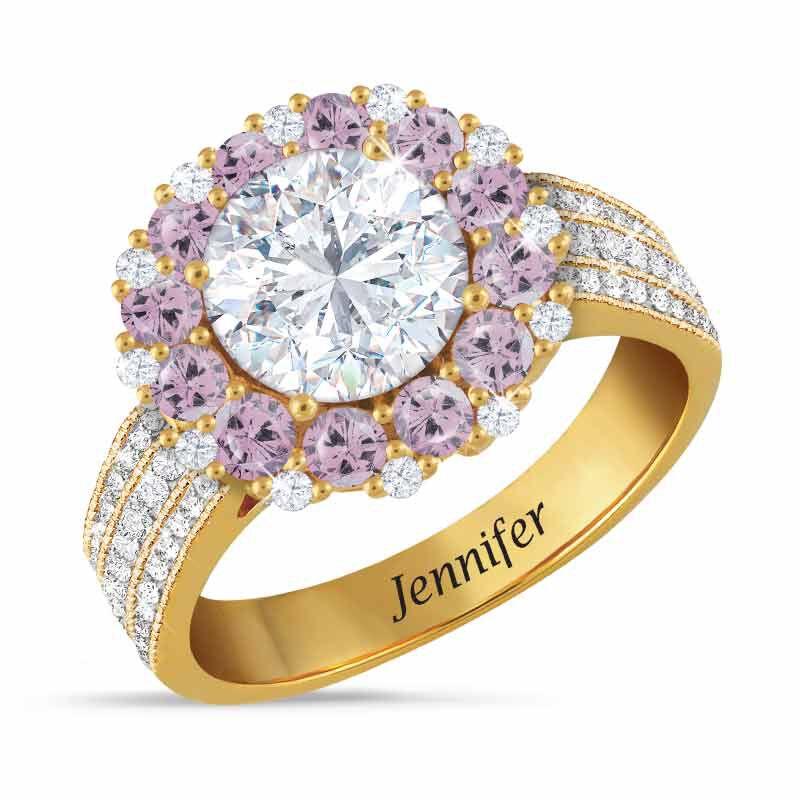 Birthstone Beauty Diamonisse Halo Ring 4924 001 3 6