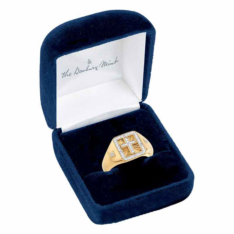 Light of the World Diamond Cross Ring 6692 001 8 3