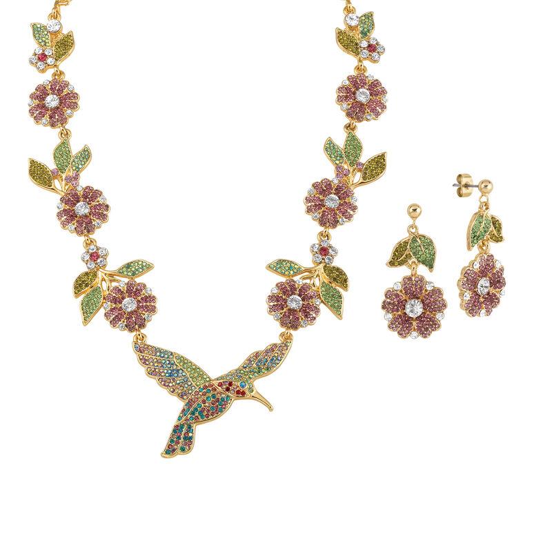 Soaring Splendor Hummingbird Neck and Earrings 10054 0012 a main