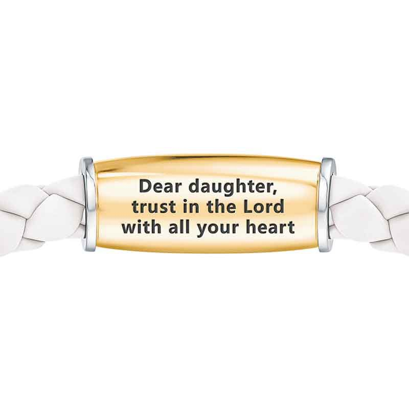 Trust in the Lord Daughter Leather Bracelet 1153 001 1 2
