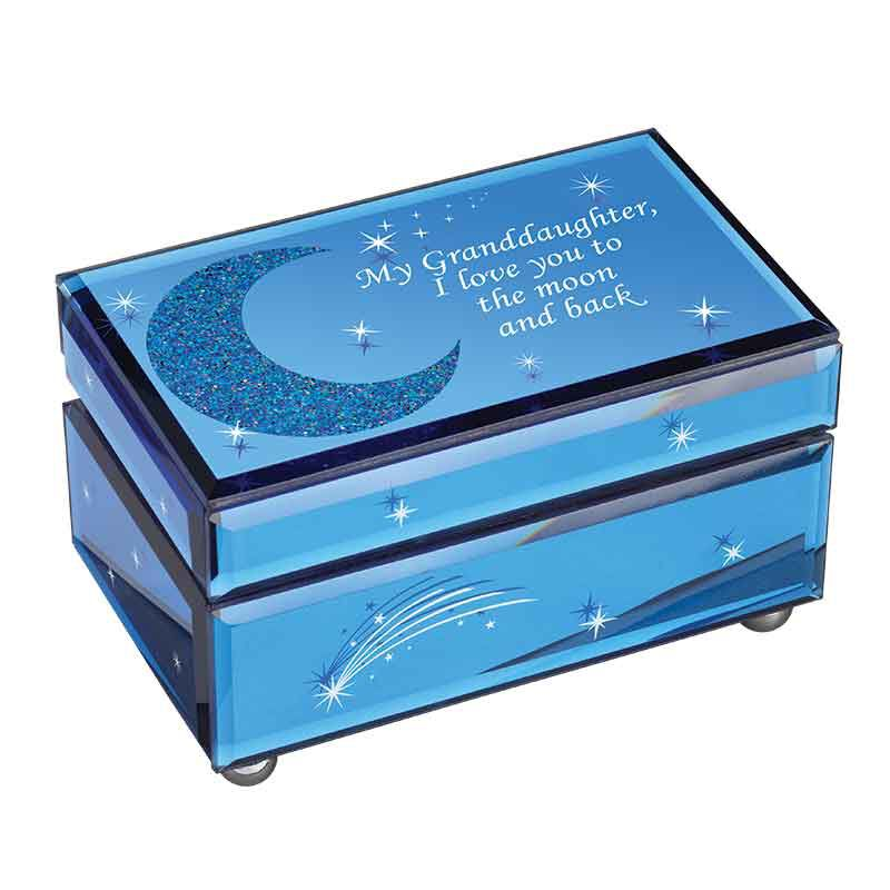 My Granddaughter I Love You to the Moon  Back Music Box 1749 001 2 1