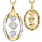 My Daughter I Love You Diamond Pendant 1136 001 3 4