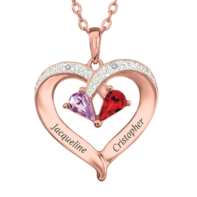 Forever Together Birthstone Diamond Heart Pendant 6995 0012 a main1