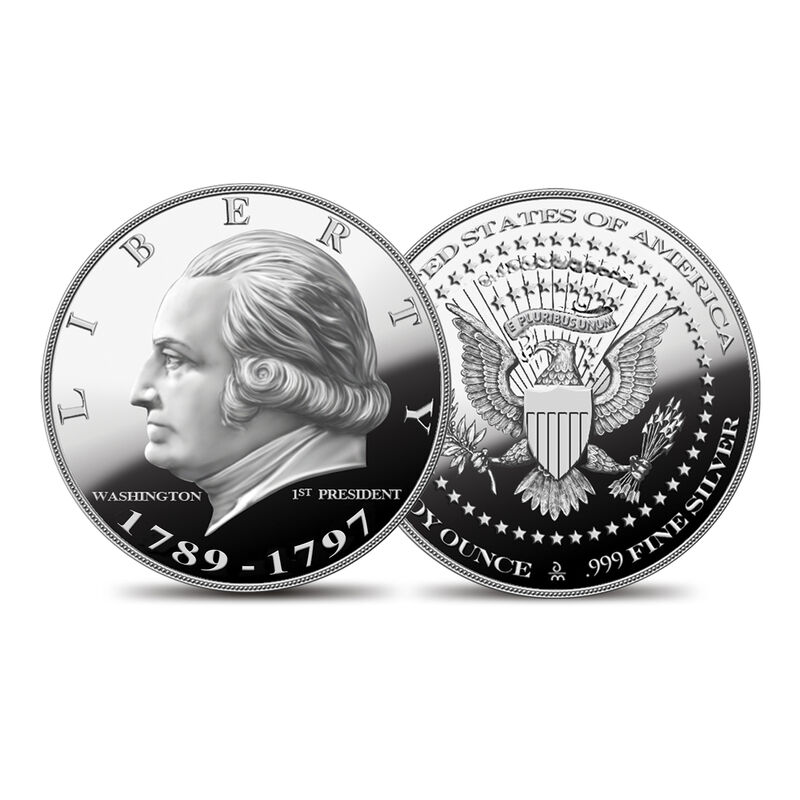 US Presidential Silver Commemoratives 9154 0088 a Washingtoncommemorative