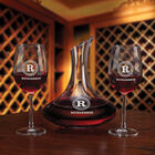 Personalized Wine Decanter Set 5668 0028 b glass
