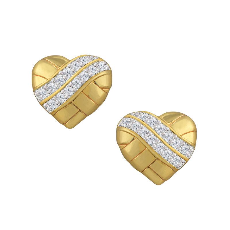 Treasures of Heart Golden Jewelry Set 10338 0010 d earring