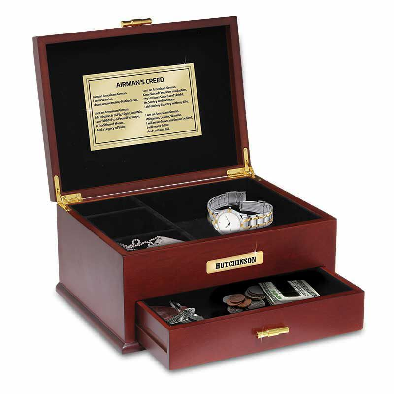 The Personalized US Air Force Valet Box 1711 002 4 1