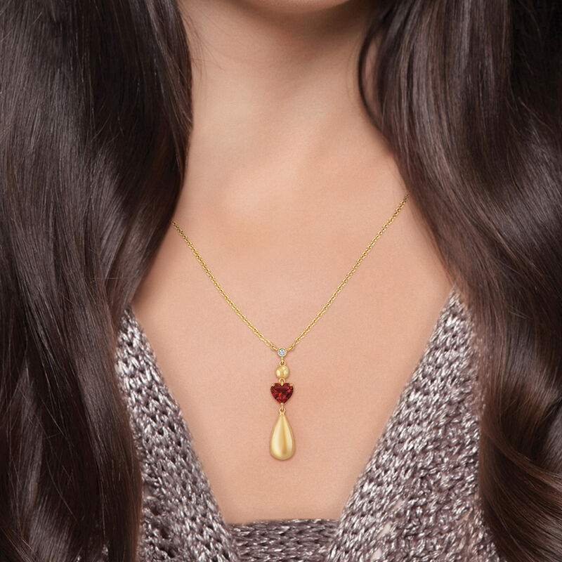 Drop of Gold Birthstone Diamond Necklace 6929 0013 n model