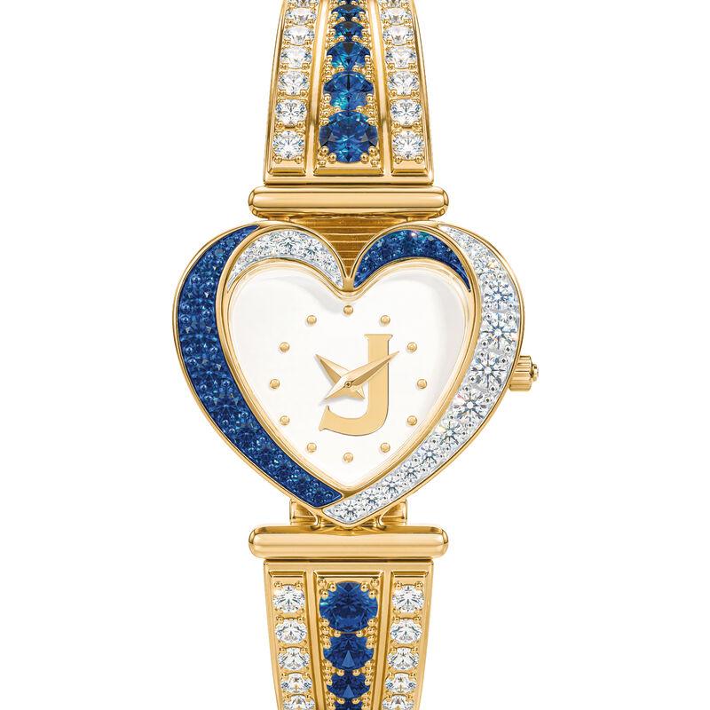 Womens Birthstone Initial Heart Watch 10332 0016 i september