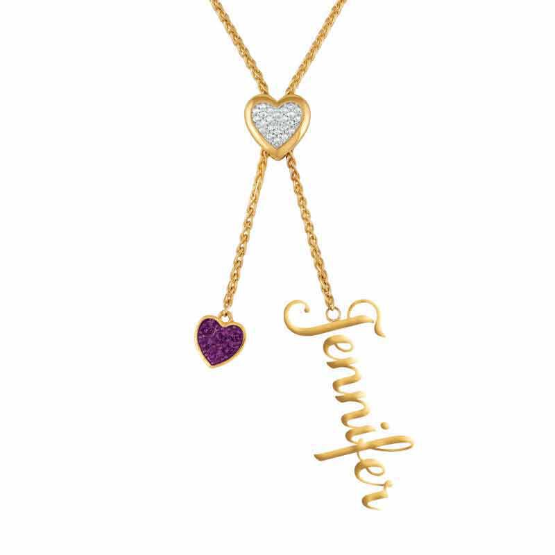 Daughter Personalized Birthstone Bolo Necklace 6525 001 1 10