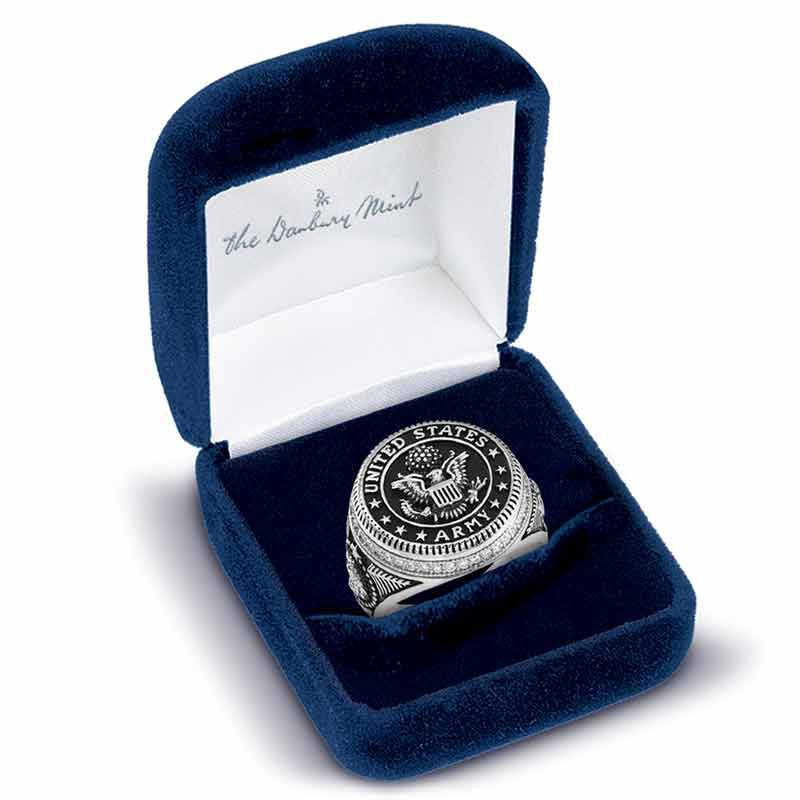 Silver Salute US Army Ring 2541 001 0 5